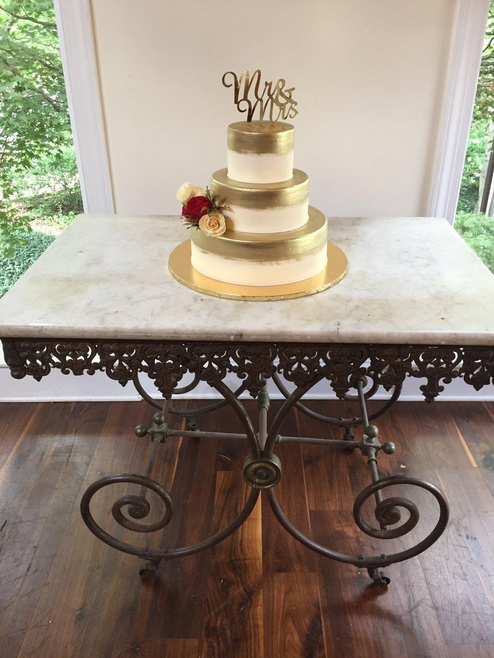 Antique Gold Wedding Cake