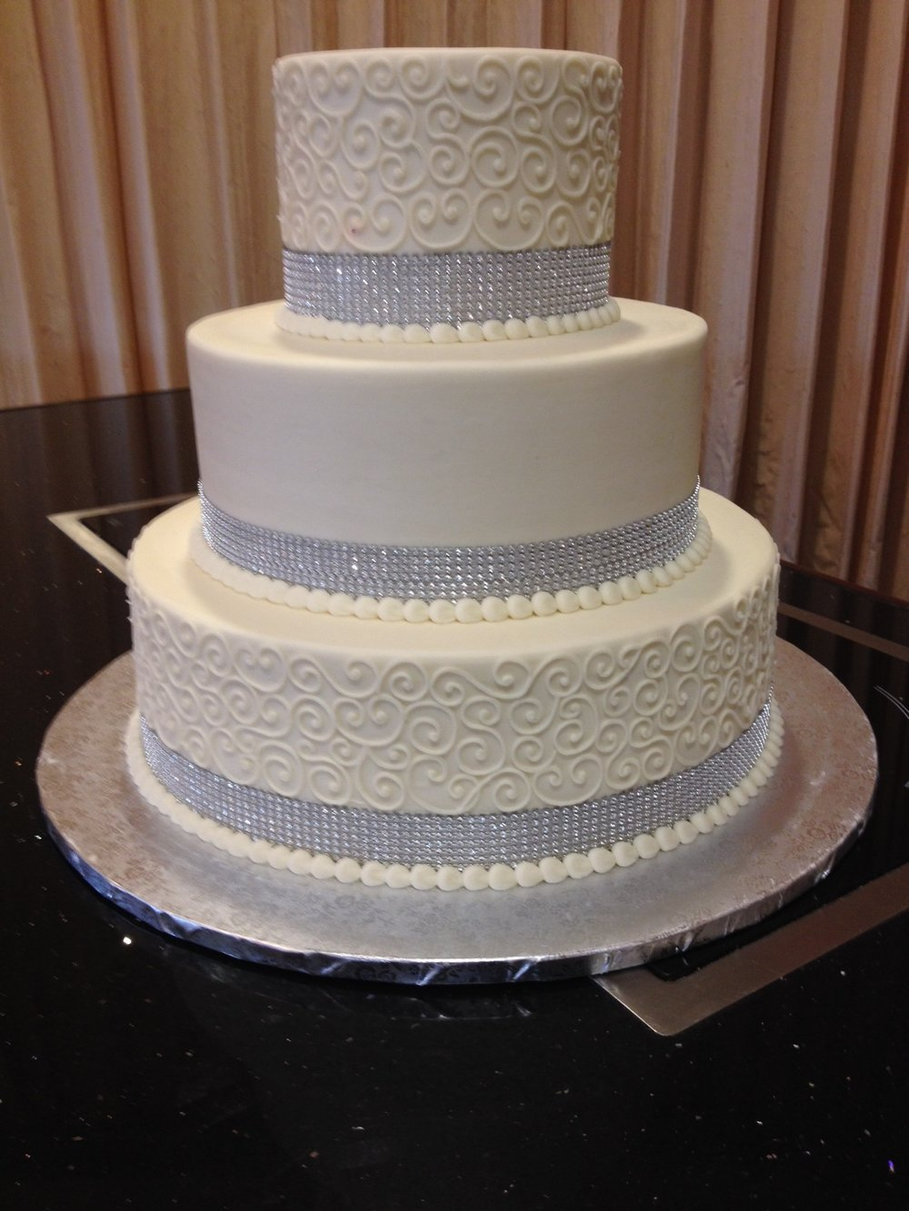 Three Tier Bling Ribbon with Scrollwork