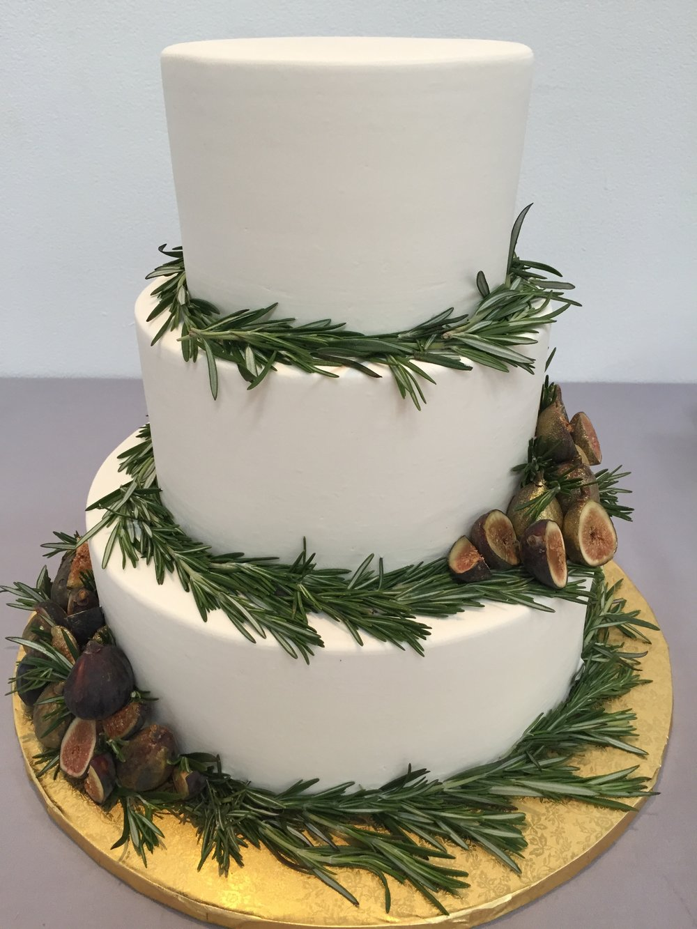 Figs and Rosemary Wedding Cake