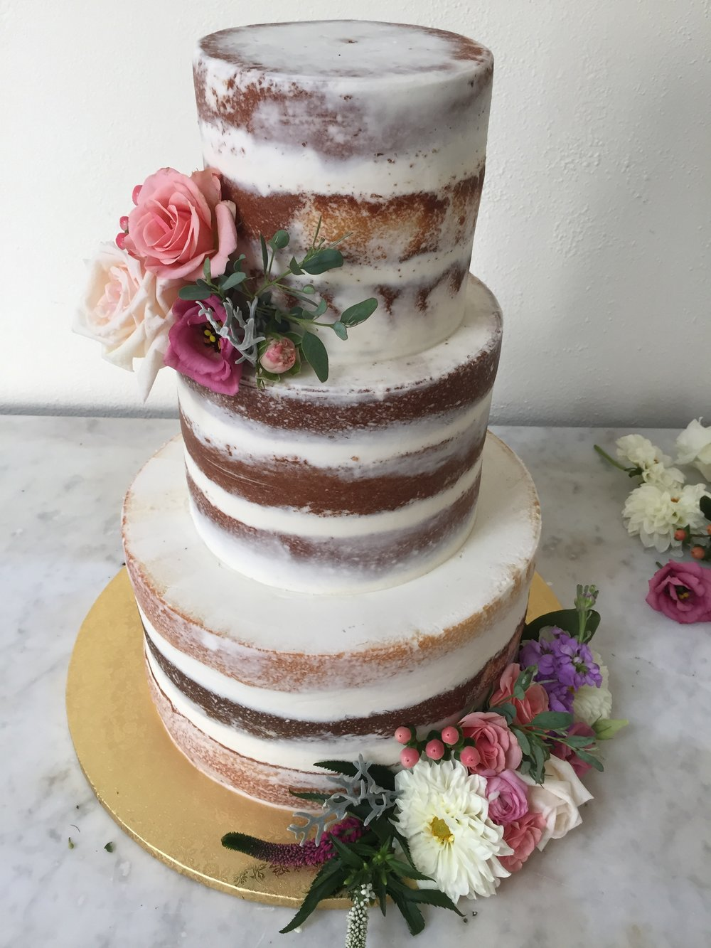 Triple Layer Three Tier Wedding Cake