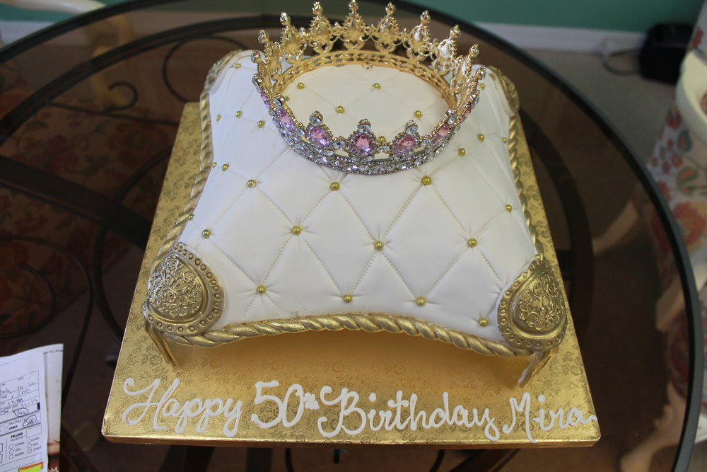 Pillow for a Crown Birthday Cake