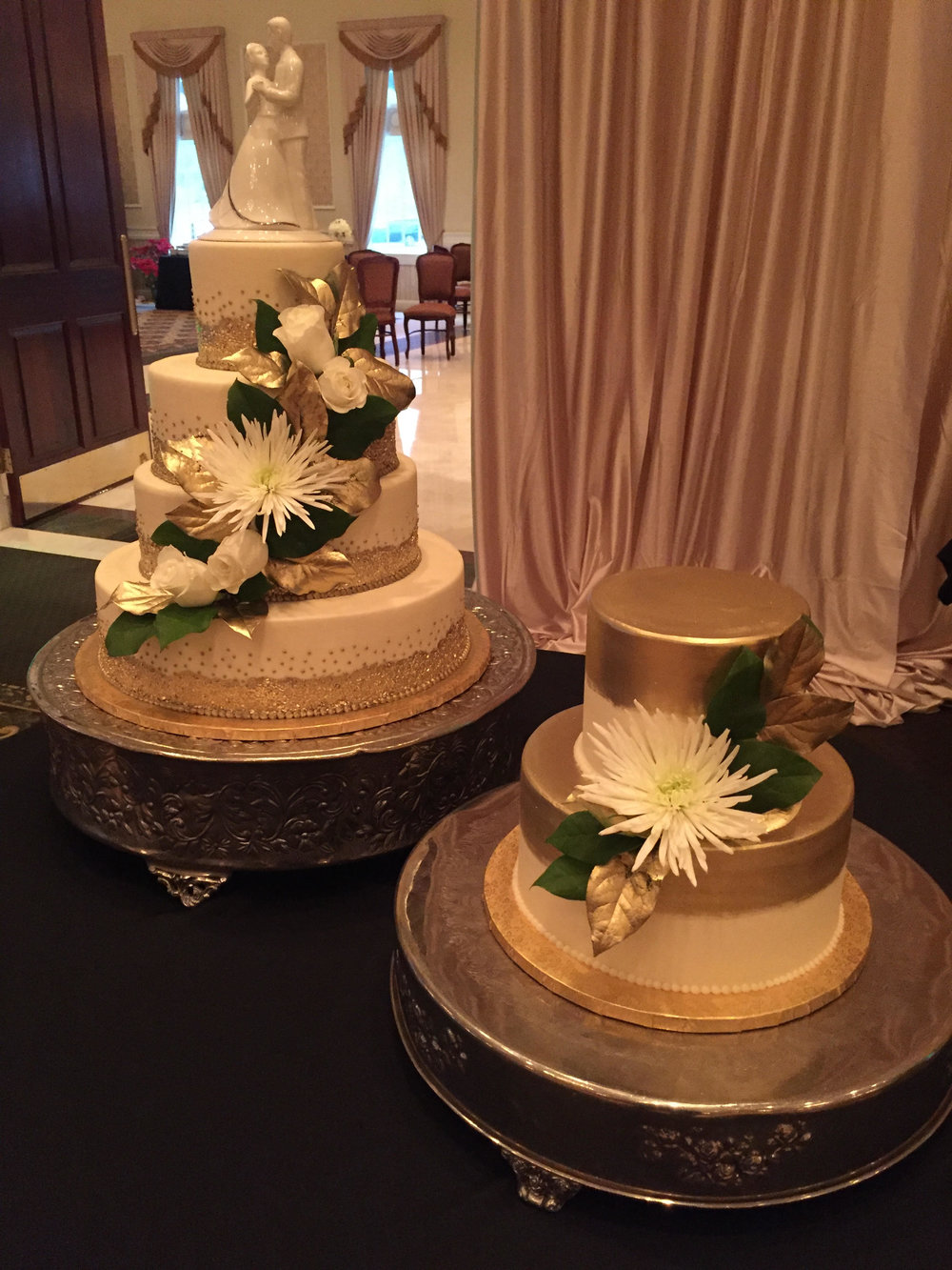 Painted in Gold Gluten Free Wedding Cake