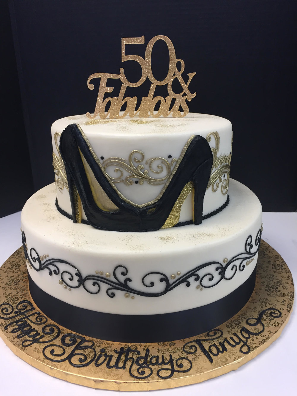 50 And Fabulous Birthday Tier Cake