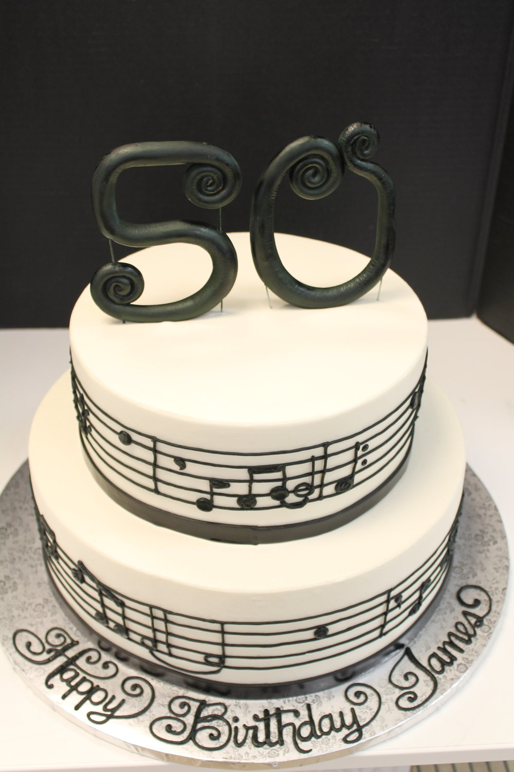 Music Notes Tier Cake