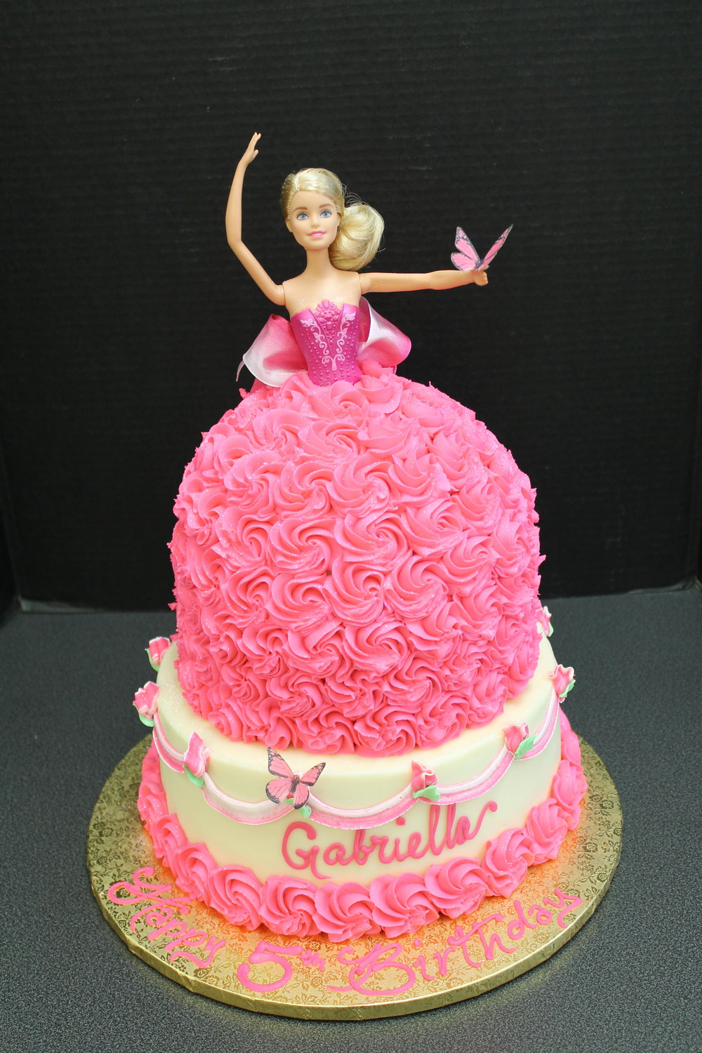 A Princess In Pink Birthday Cake