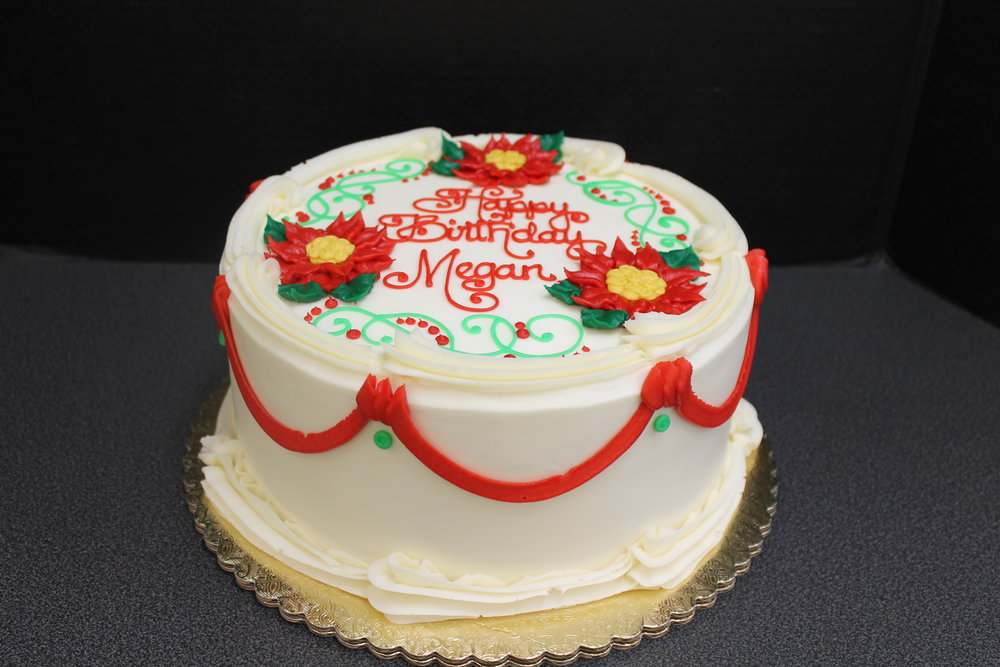 Red and Green Birthday Cake