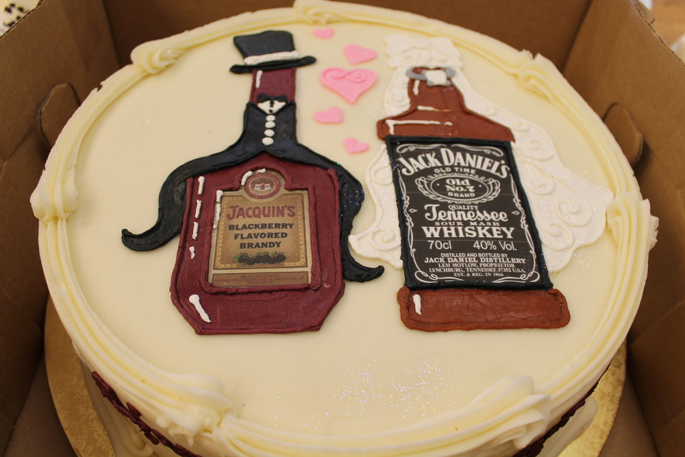 The Happy Couple Engagement Cake