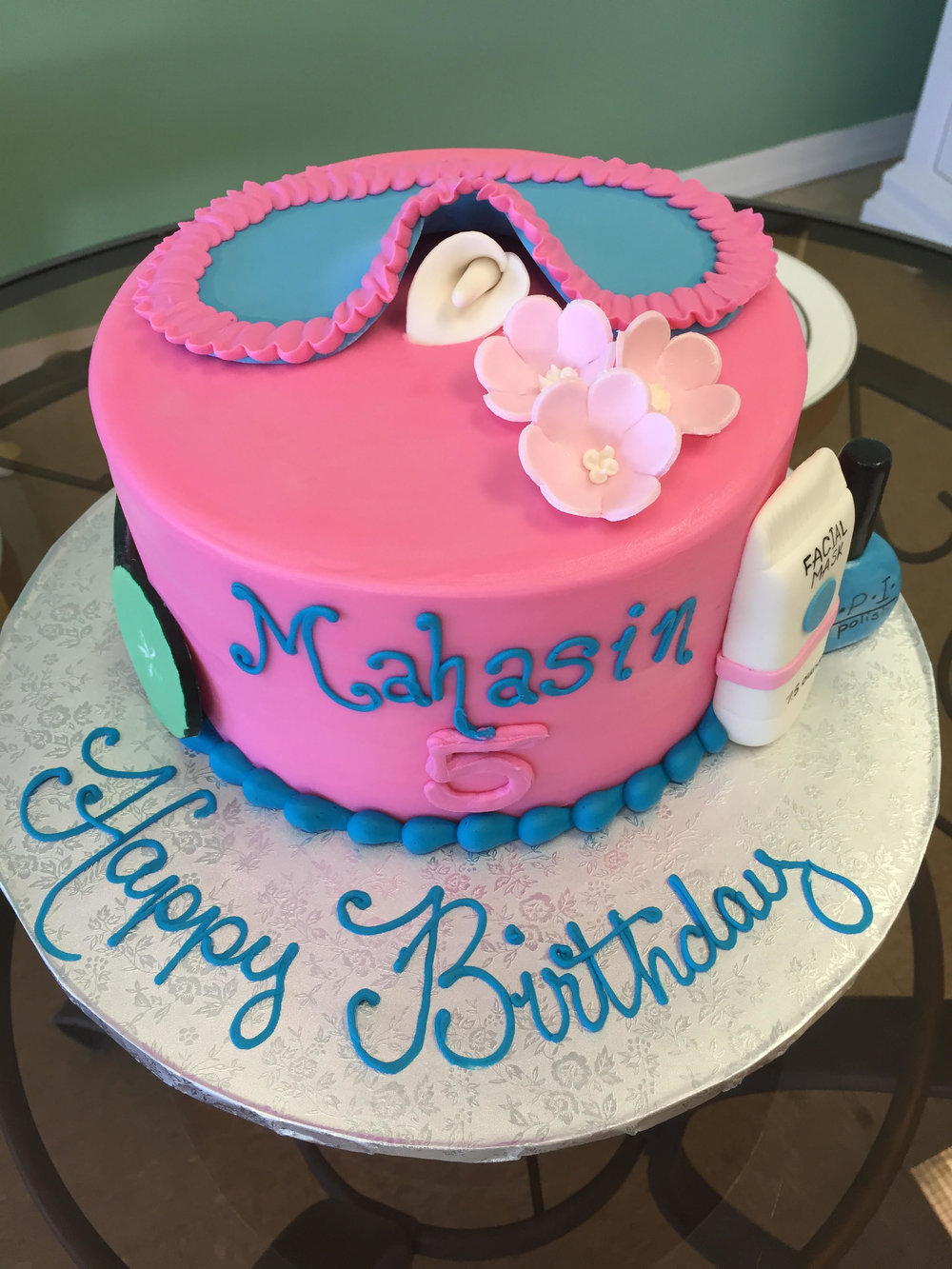 Spa Themed Birthday Cake