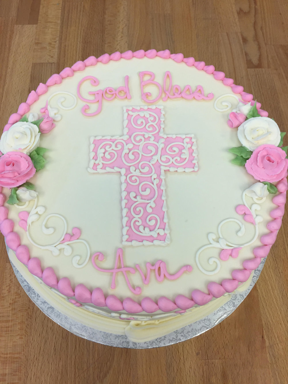 Pink Cross, Pink Roses 202