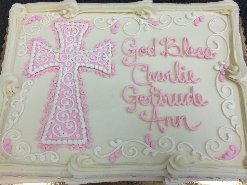Elegant Pink and White Cross 201