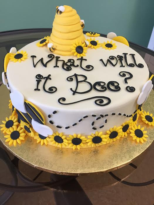 Who Will It Bee Shower Cake