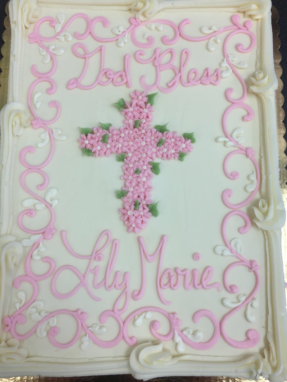 Pink Drop Flower Cross 214