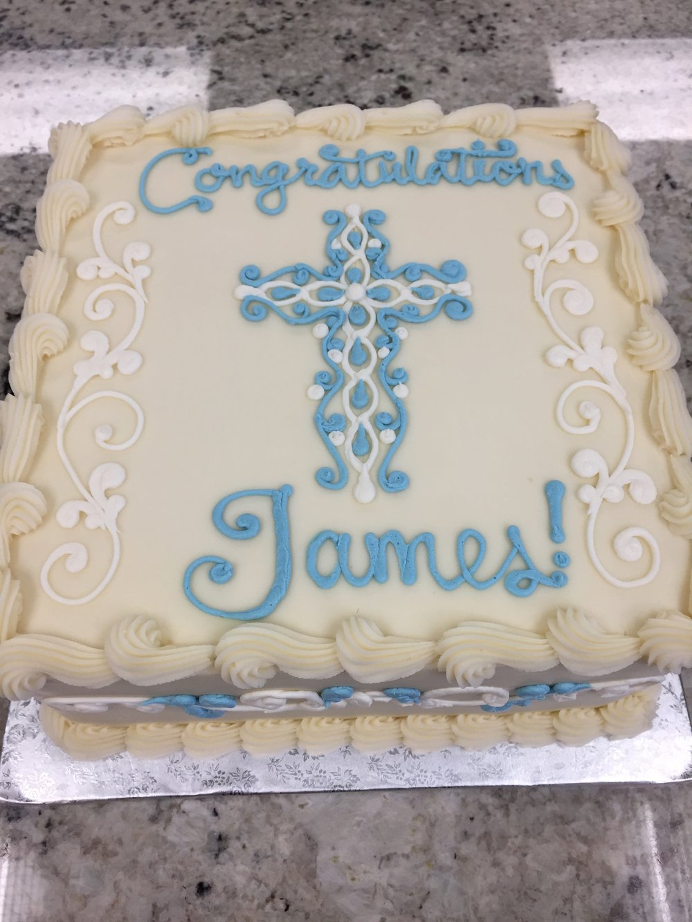 Square Communion Cake