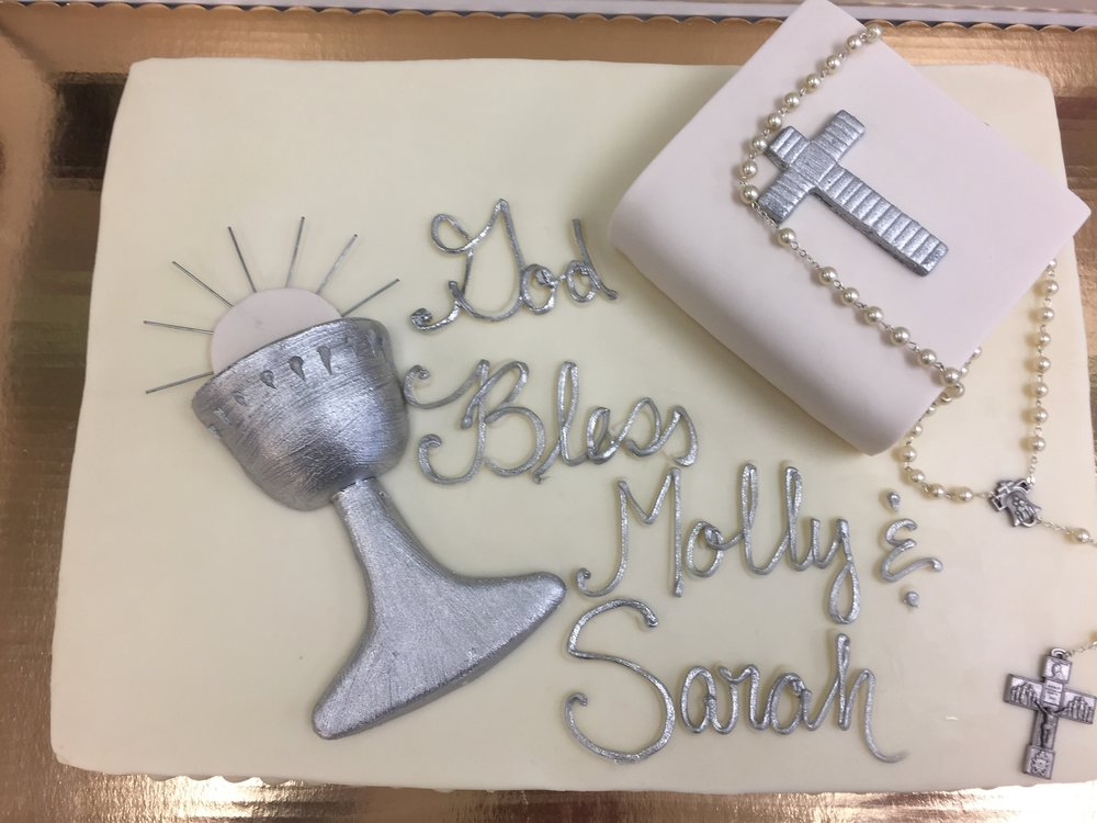Chalice, Bible and Rosary Cake