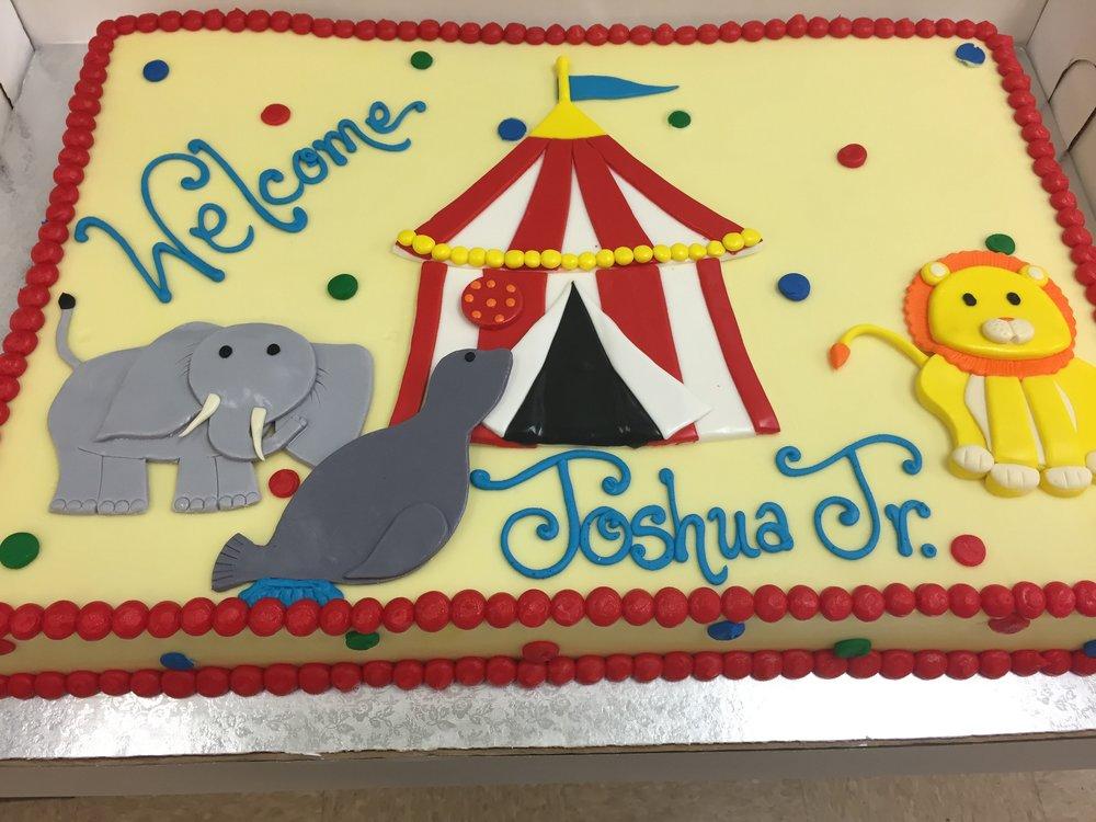 Circus Animals and Tent Birthday Cake