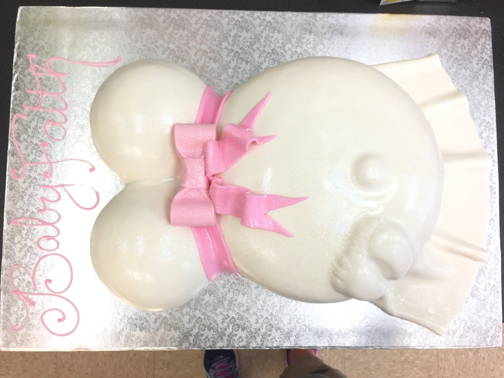 Baby Belly with Pink Bow and Tails