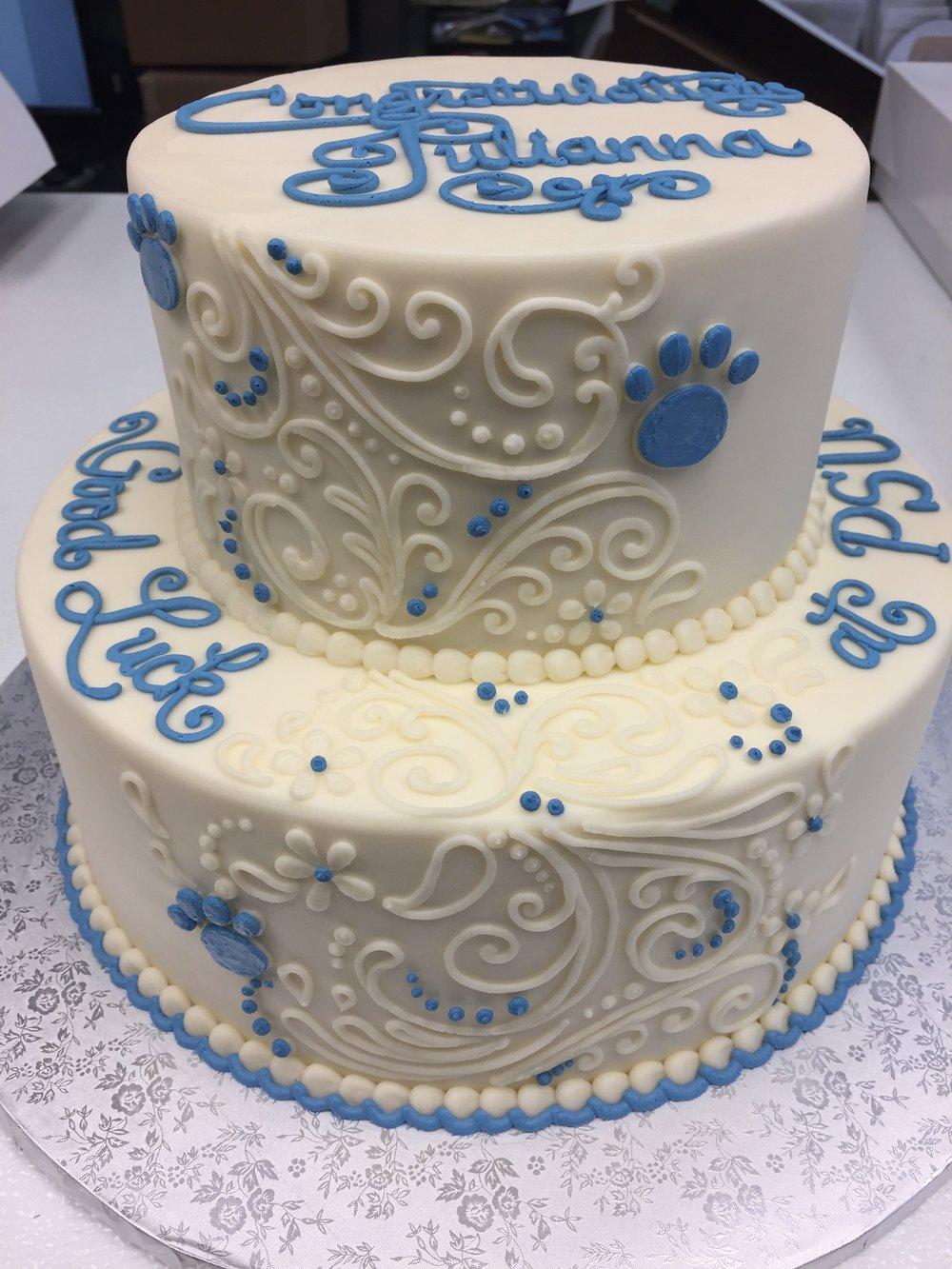 Future Penn State Grad Tier Cake