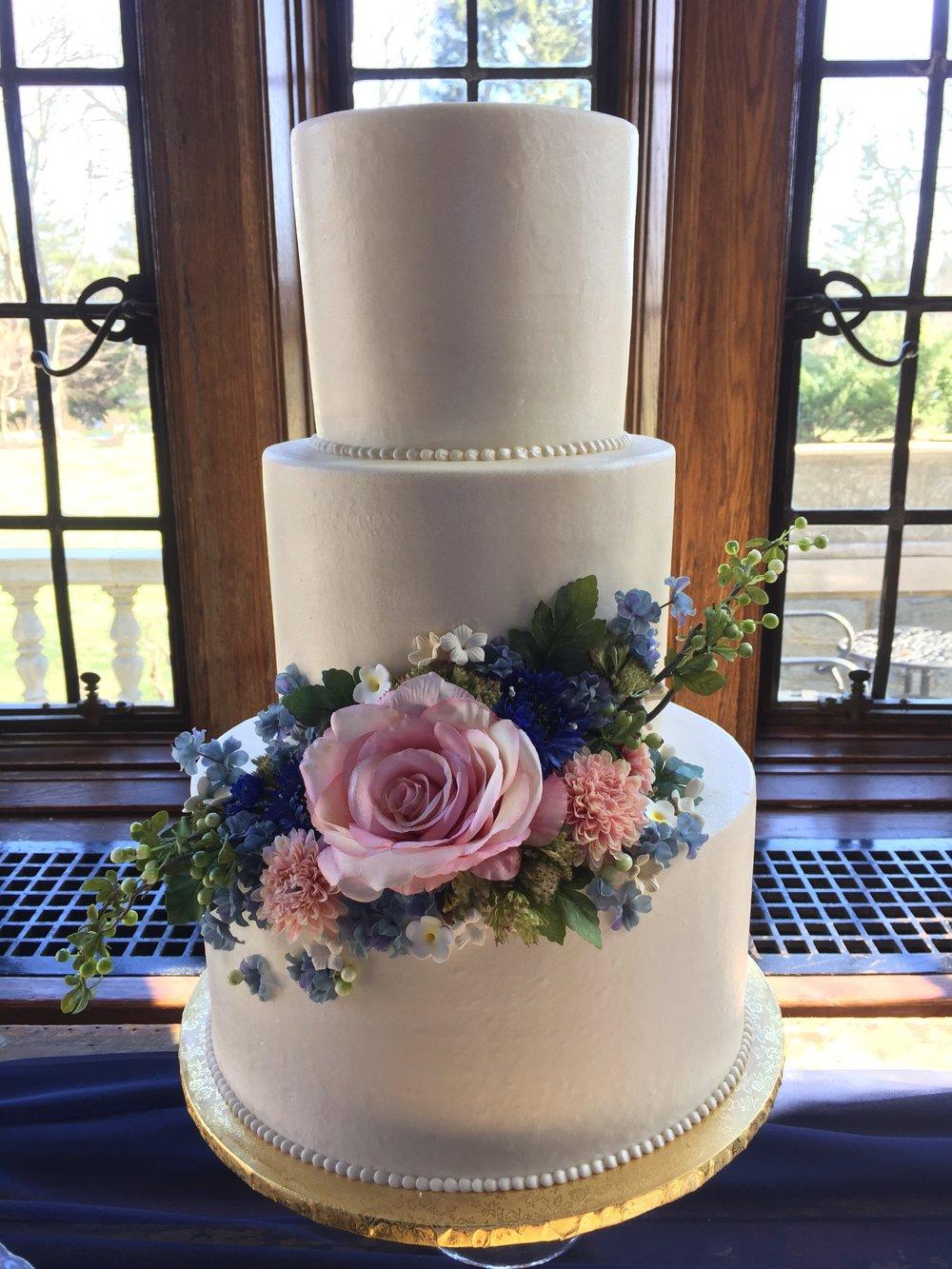 3 Layer, 3 Tier Wedding Cake