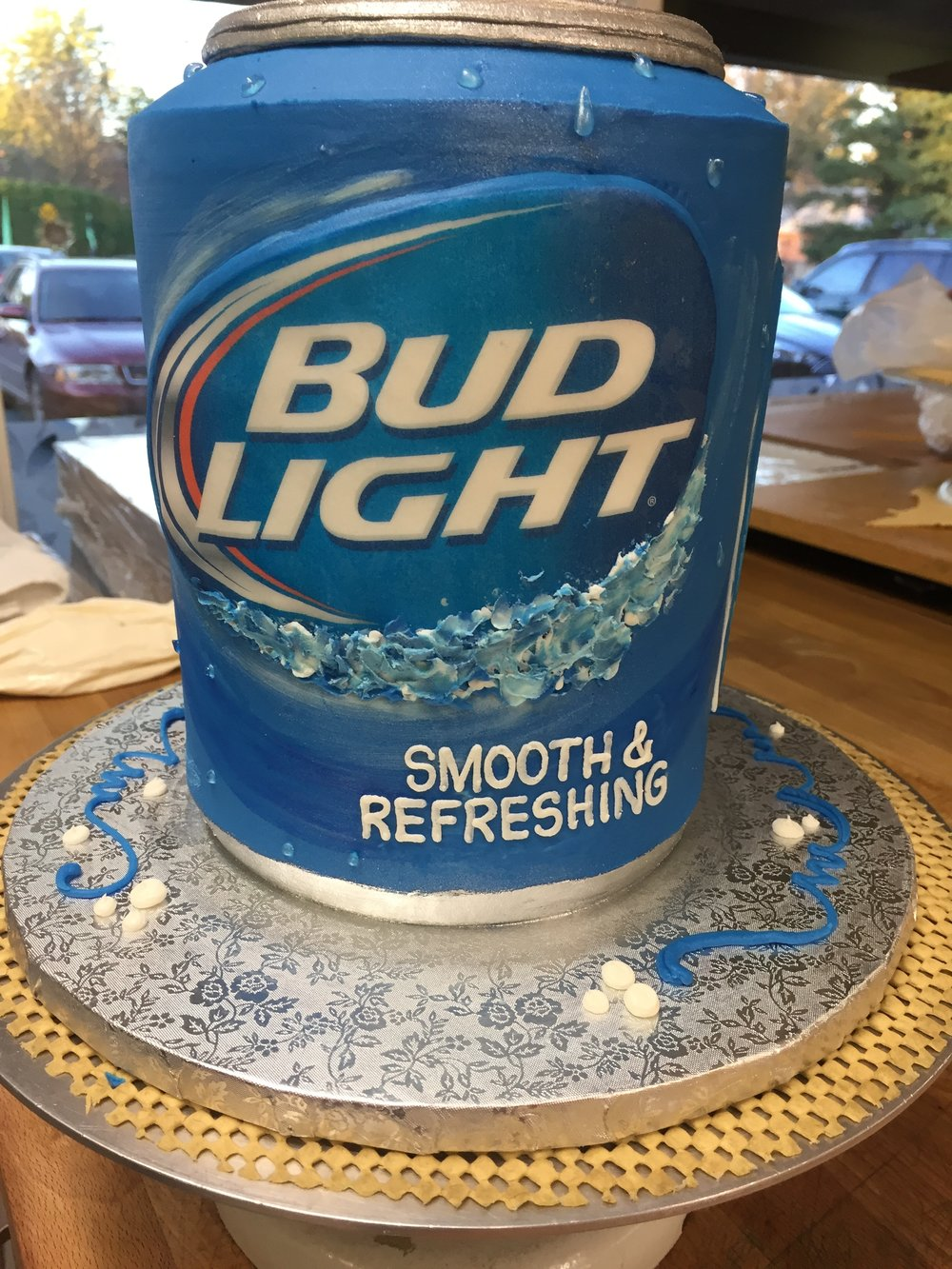 Beer in a Can Birthday Cake