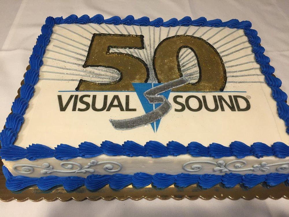 Visual Sound Anniversary Cake
