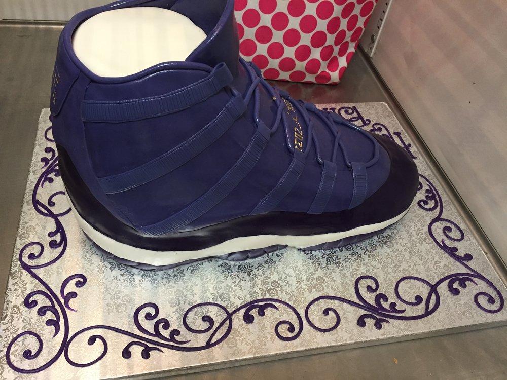 One Purple Sneaker