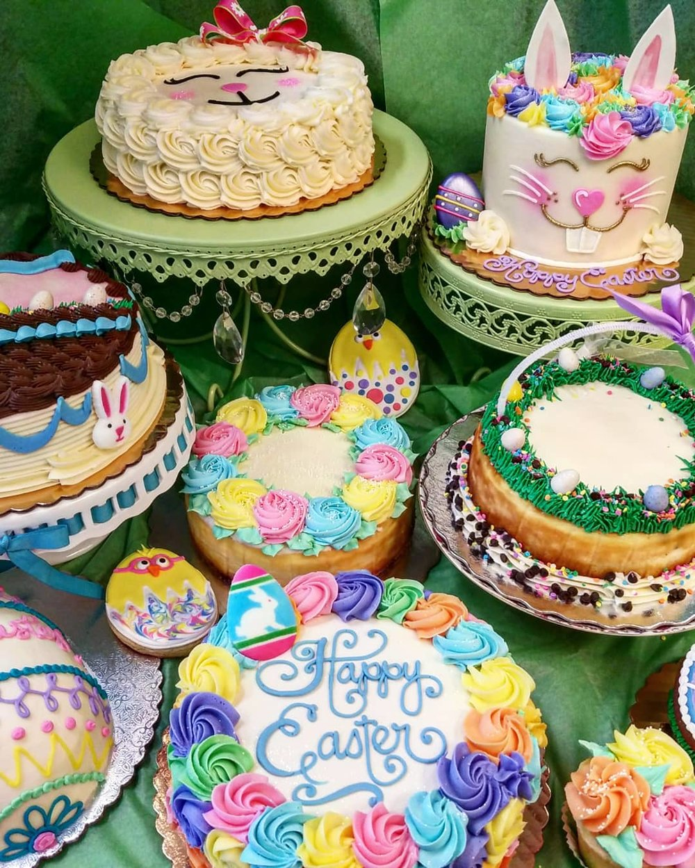 Easter Cakes and Cheesecakes Selection