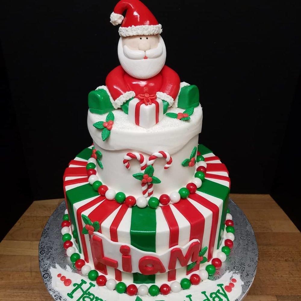 Santa's Christmas Tier Cake