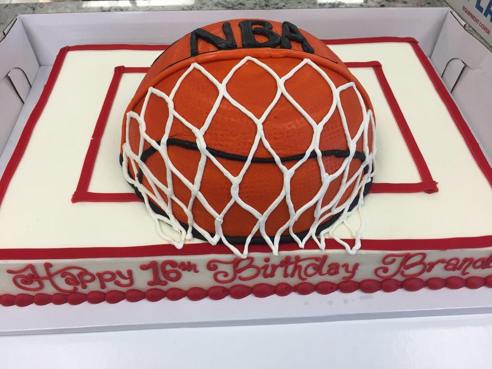 Basketball and Net Birthday Cake