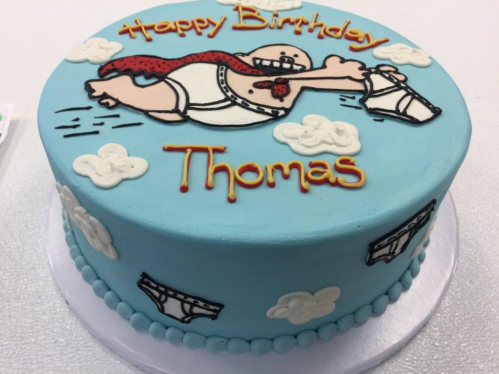 Comic Book Hero on a Cake