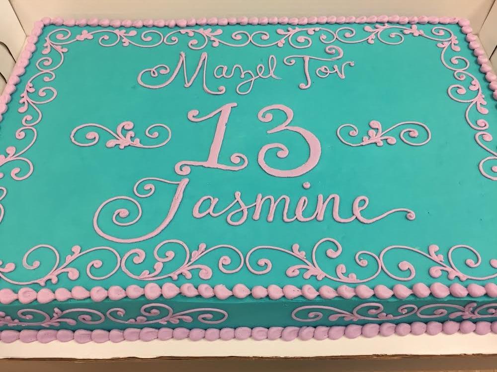 Aqua and Pink for Jasmine