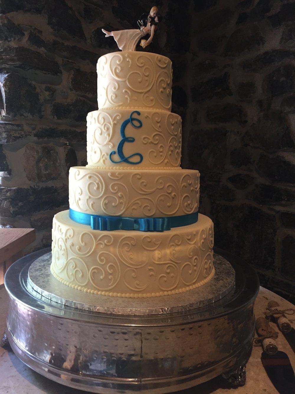 Special Summer Wedding Tier Cake