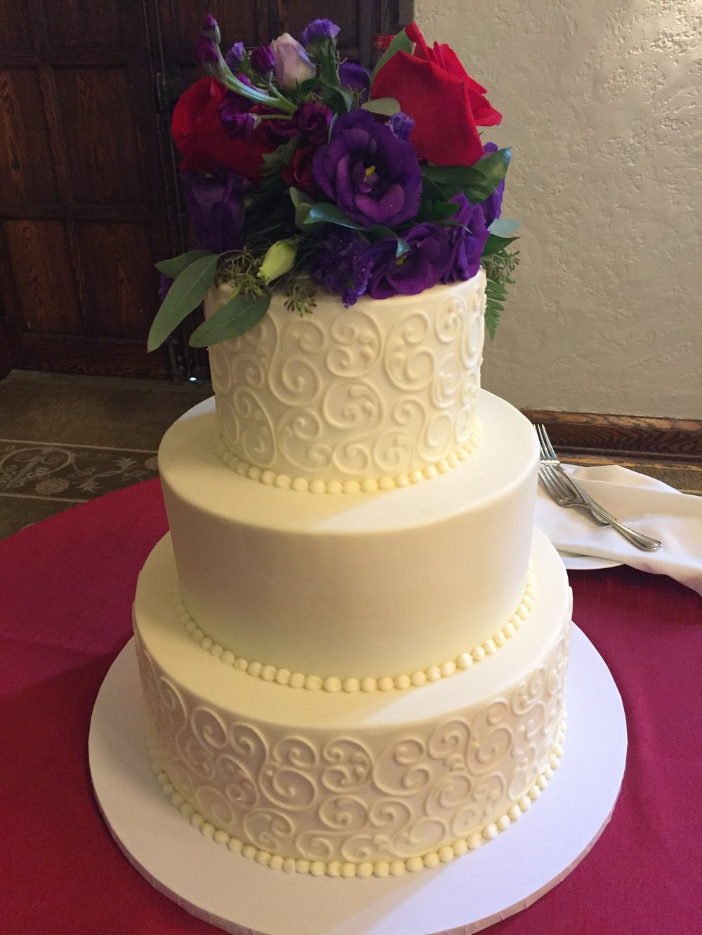 Jewel Tone Colors for a Wedding Cake