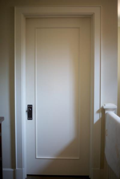 bedroom door makeover with decals diy