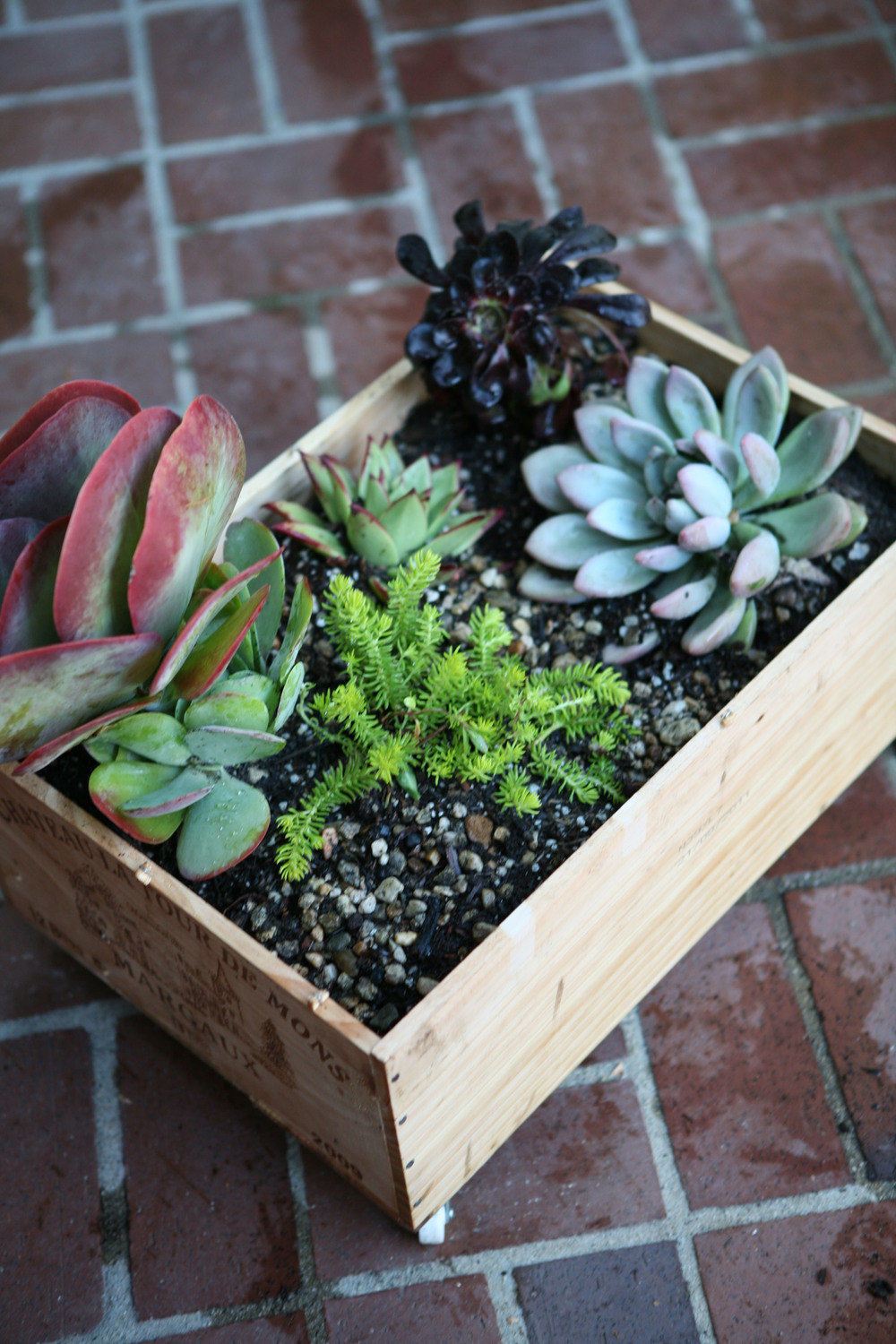 Wine Crate Planter Diy My Life At Playtime