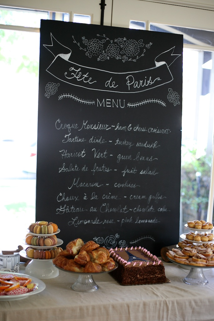 Paris Party Menu Ideas