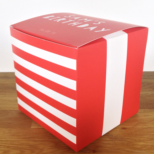 "YOU CHOSE STRIPES RED 4"" x 4"" x 4"""