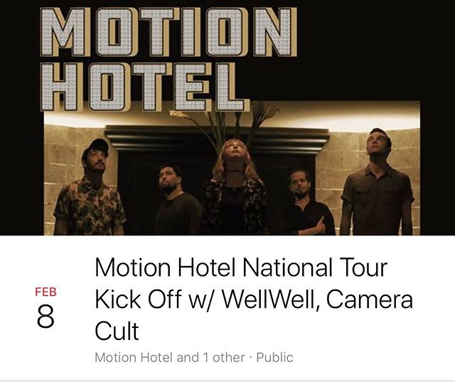 Check out our next show with @motionhotel and @cameracult