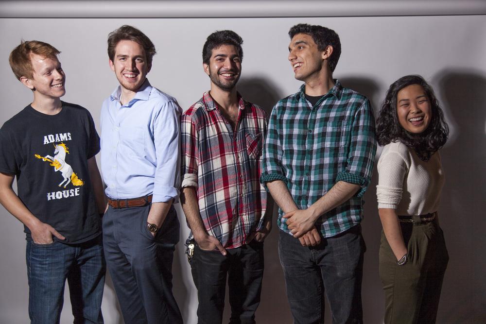 From left to right - Jack Cashion, Warren Leogering, Nick Demirjian, Noam Hassenfeld and Hanna Choi