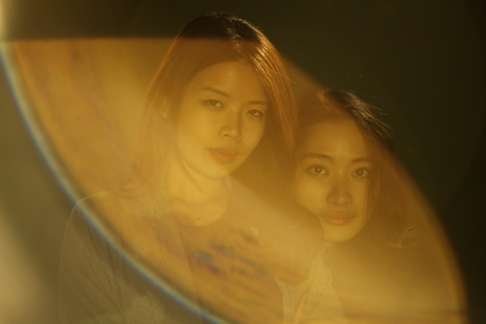 Michelle Lin, left and Rosalie Yu,right - the creators of 'Warp'