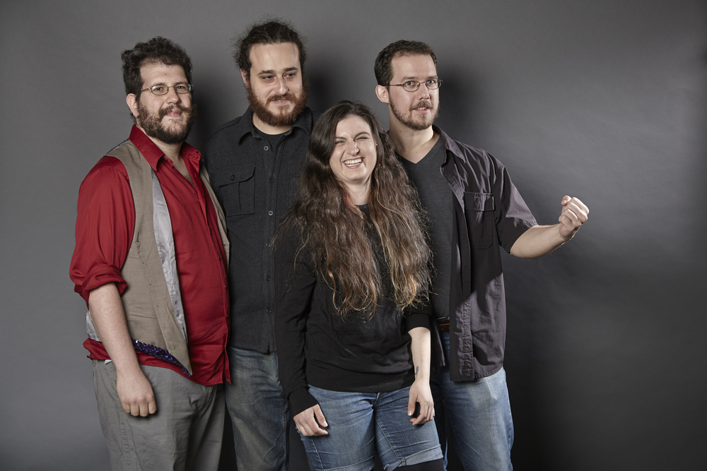 from left to right - Jon Good, Jesse Sternberg, Danielle Kolker and Jesse Jacobsen