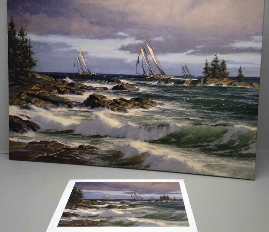 color proofing for artist Don Demers