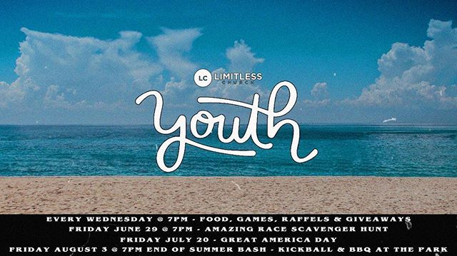It's finally Wednesday! High School students we invite you to join us for an incredible night! We have lots of pizza, games, prizes, amazing people to meet/get to know and MUCH more! Invite your friends! We can't wait to see you there! 🍕🏀🍦🙌🏻 Also, check our new LY Instagram account to stay up-to-date and in the loop on all things Limitless Youth this Summer @limitlessyouthburlingame!#WeLoveWednesdays