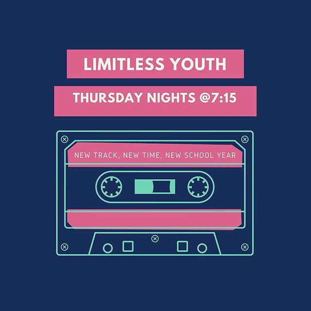 Hello Limitless Church! We have an important announcement for our high school students! Starting next week Limitless Youth will be held on THURSDAY nights @ 7:15pm. Same place, same youth group, but a NEW day! If you are a high school student or know a high school student be sure to get the word out! Thursday, August 16th @ 7:15pm is our Fall Kick Off! Don't miss out! For more info and to stay up to date check out @limitlessyouthburlingame ✌🏻