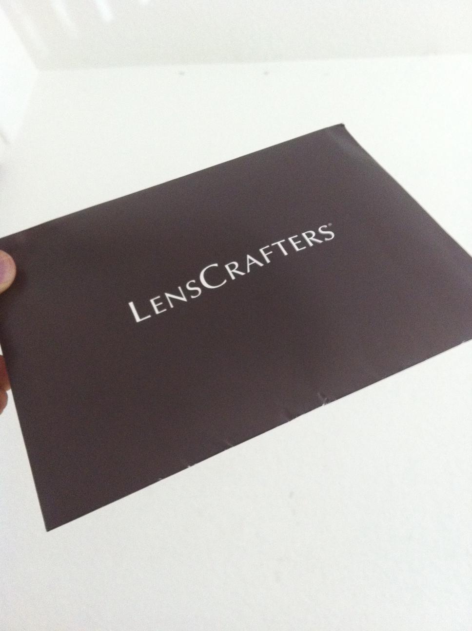 LensCrafters Envelope