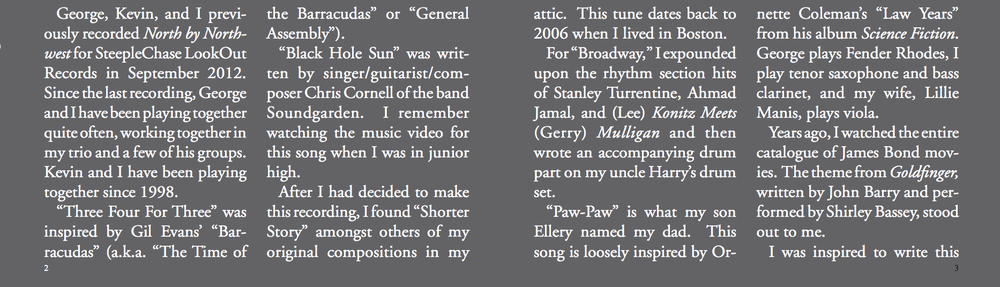 The Golden Mean  liner notes, page 1