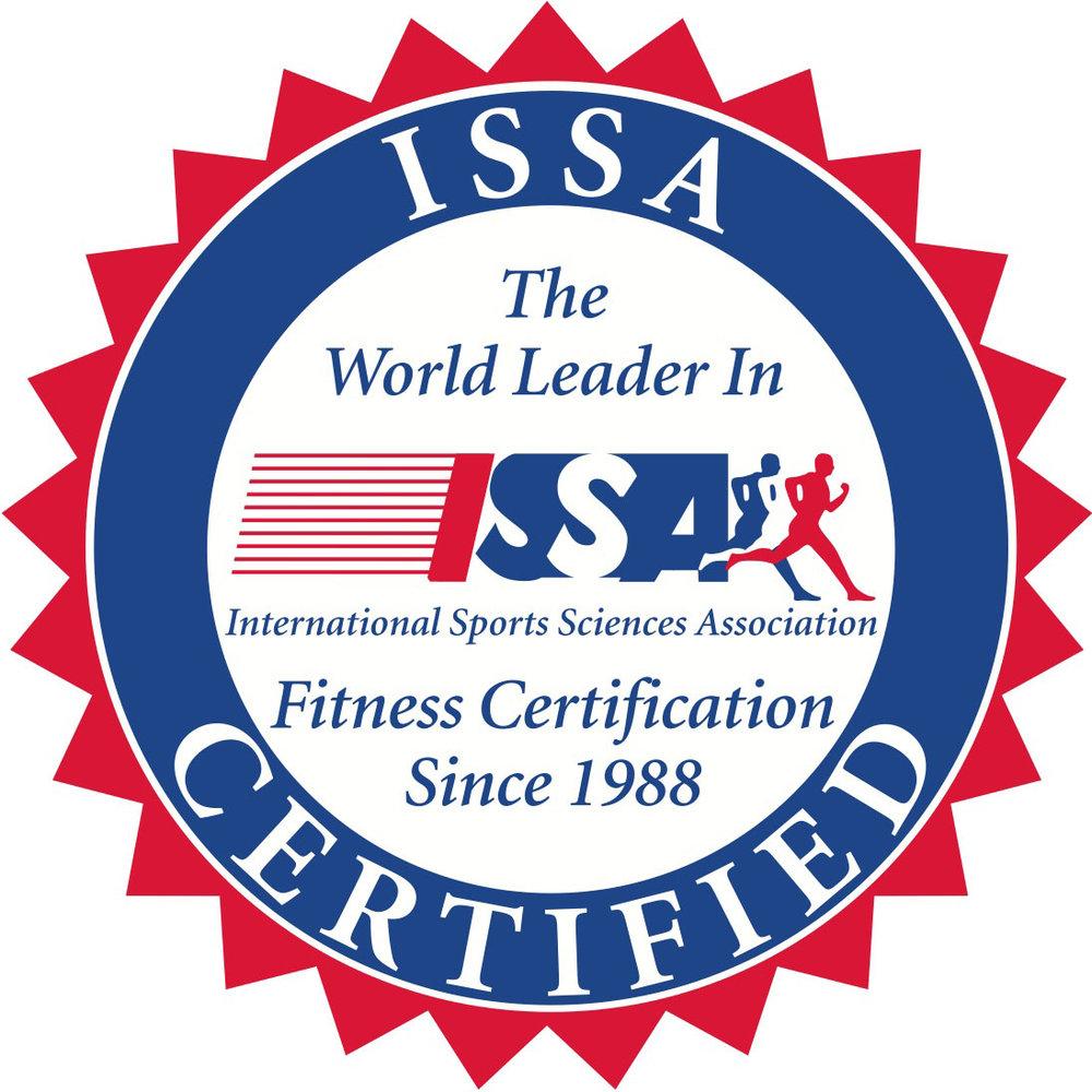 ISSA CERTIFIED PERSONAL TRAINER - INTERNATIONAL SPORTS SCIENCES ASSOCIATION