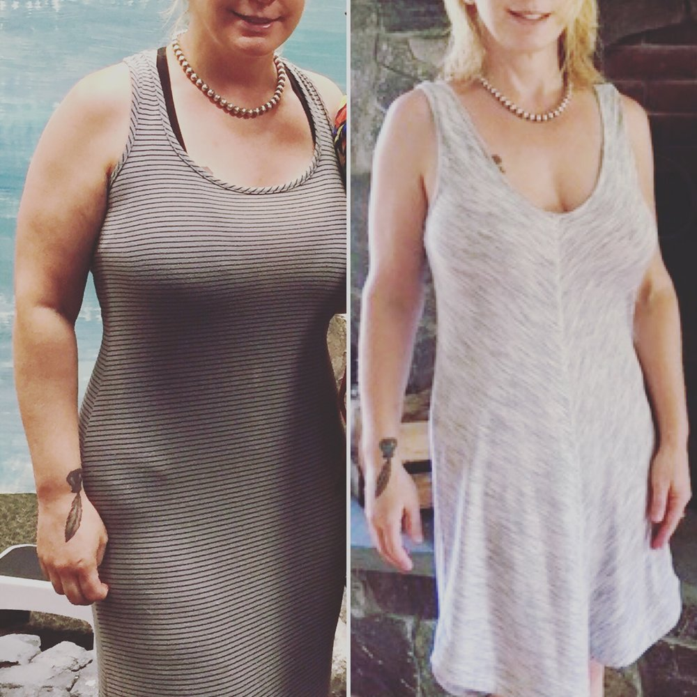 Lisa's Transformation - We are so proud of this amazing 20 lb transformation our dedicated member Lisa Maloney has achieved in just one summer!!