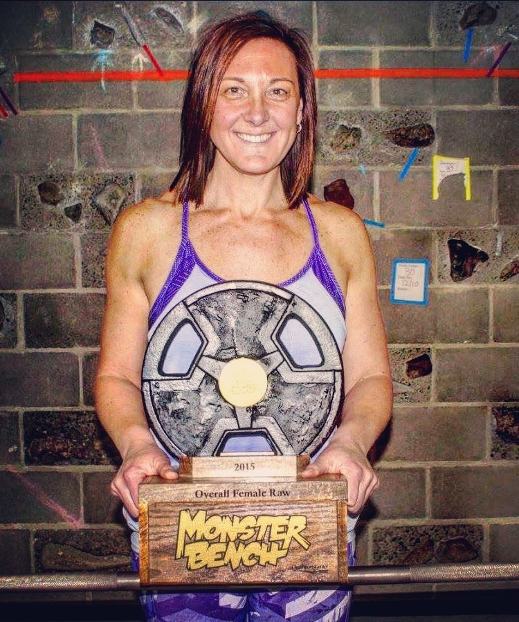 2015 Cooperstown Monster Bench Competition  - 1ST PLACE: OVERALL FEMALE RAW  - 155 LB BENCH PRESS1ST PLACE: WEIGHT CLASS - 155 LB BENCH PRESS