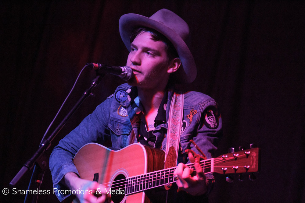 Nick Santino performing at Brick & Mortar. Photo by Jared Stossel.