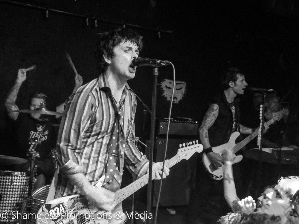 Green Day performing last night at 924 Gilman Street in Berkeley, CA. © Shameless Promotions & Media.